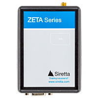 Siretta ZETA 4G(LTE) CAT 1 / 3G/2G EU freq low power modem + antenna, PSU, RS232 & USB cables