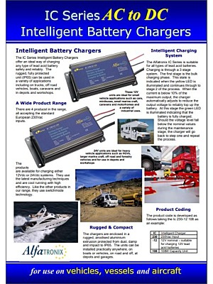 Alfatronix IC-series katalogi