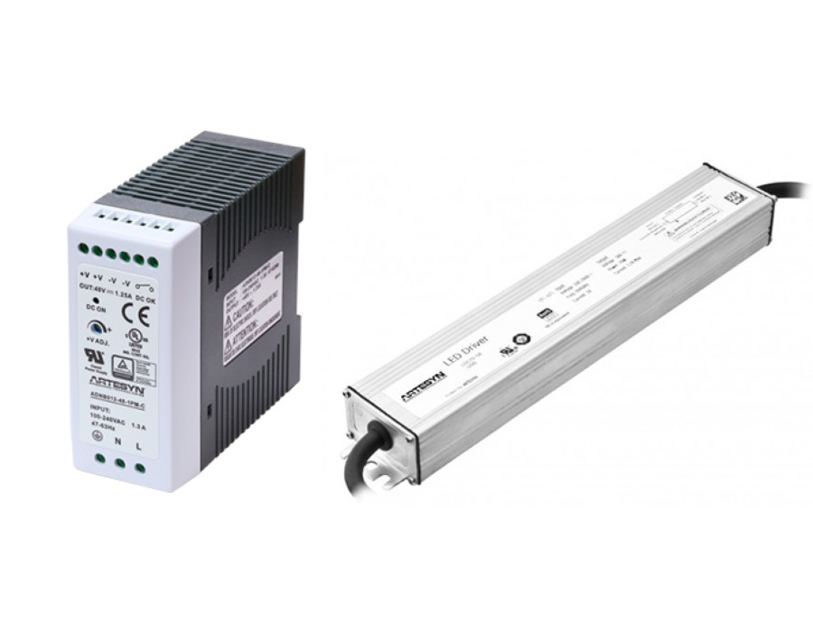 artesyn led drivers din rail power supply
