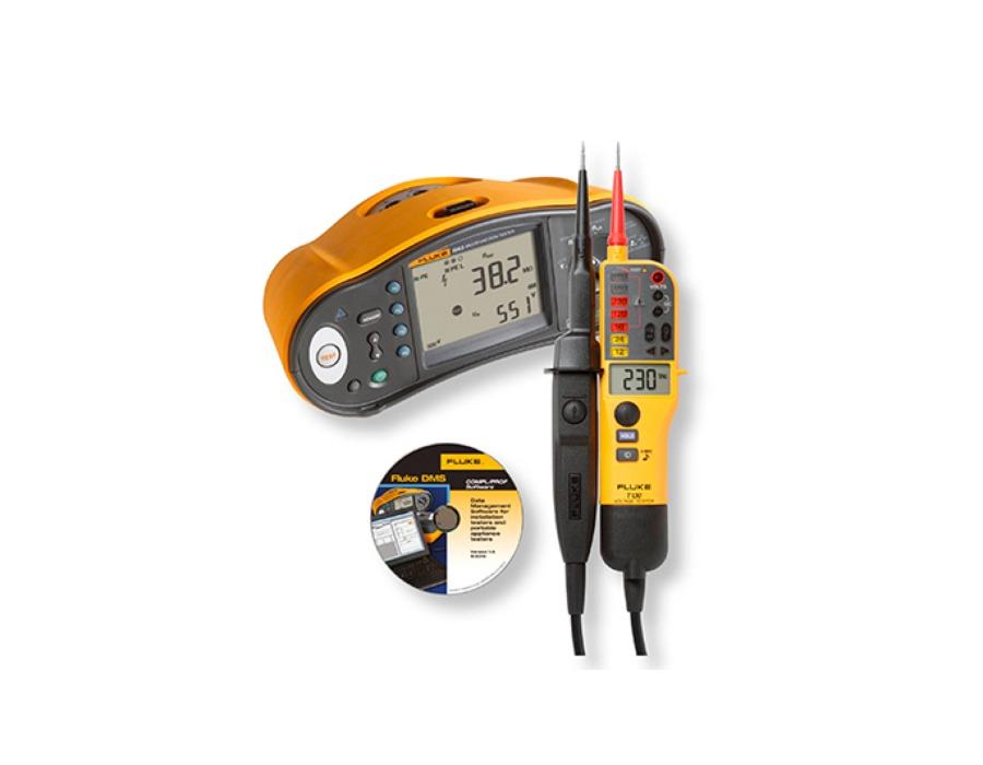 Fluke 1663 Sähköasennustesteri + T130 jännite-/jatkuvuustesteri + FVF-ohjelmisto