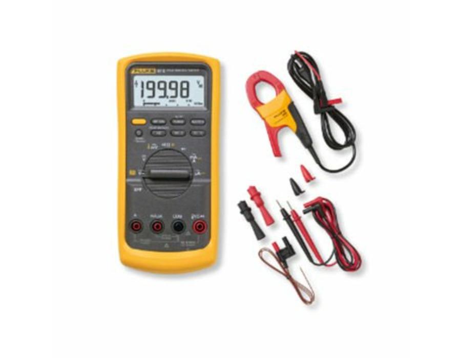 Fluke 87V yleismittari + Fluke i400A Virtapihti + Fluke 80BK-A DMM lämpötilaprobe teollisuuskit